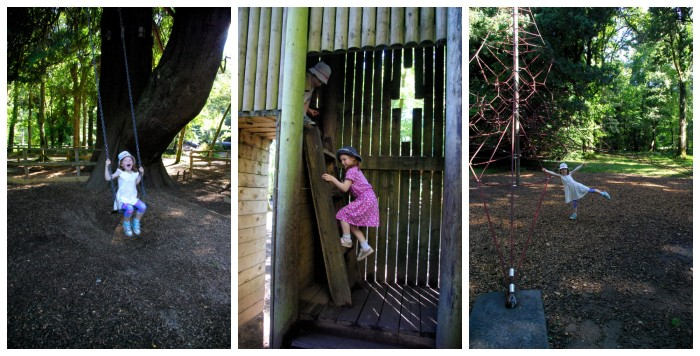 The adventure playground at River Dart Country Park in Devon