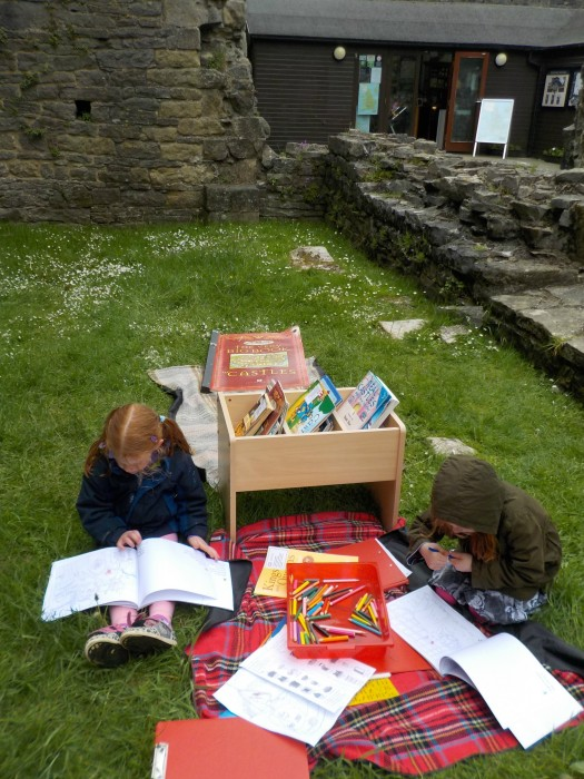 The chiildren's activity area at Middleham Castle