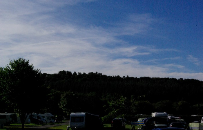 The view at Clent Hills Campsite West Midlands