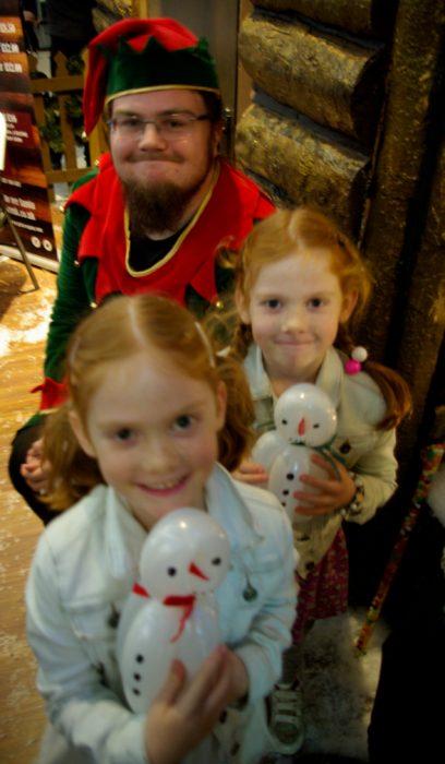 Meeting an elf at Princes Quay