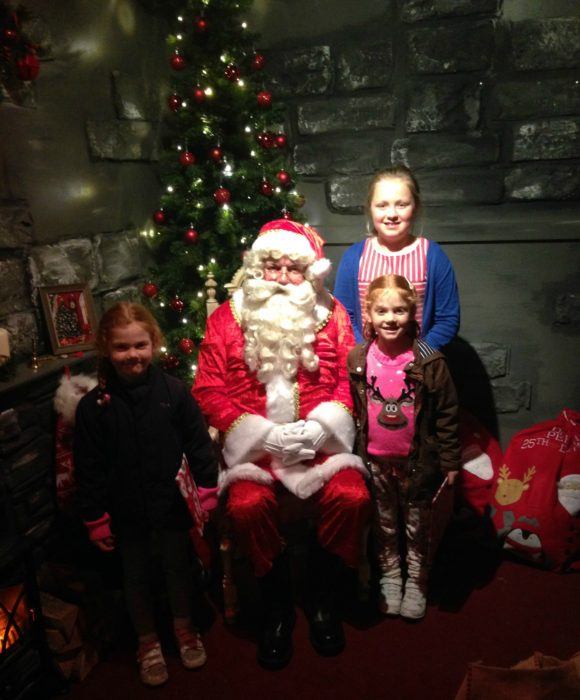 The girls with Santa at Flemingate