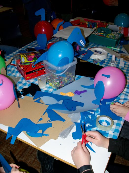 Balloon dinosaurs at Dynamix