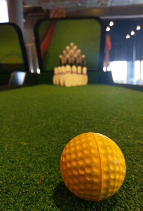 Online Golf ten pin golf bowling