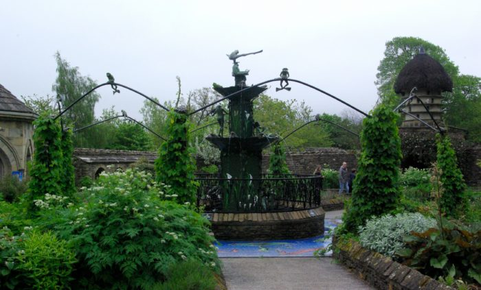 The frog fountain at The Forbidden Corner