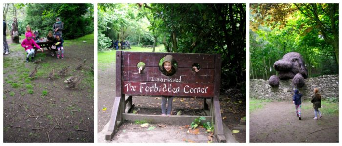 The grounds and picnic area at The Forbidden Corner
