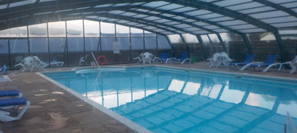 The pool at Andrewshayes Holiday Park