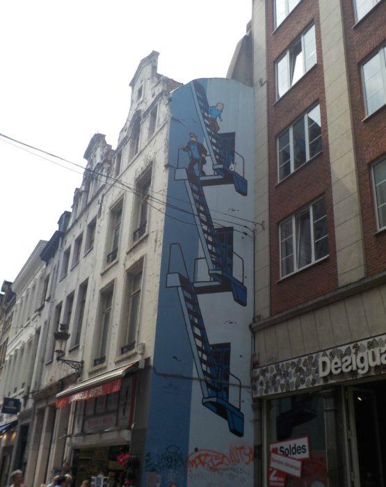 Brussels comic book trail