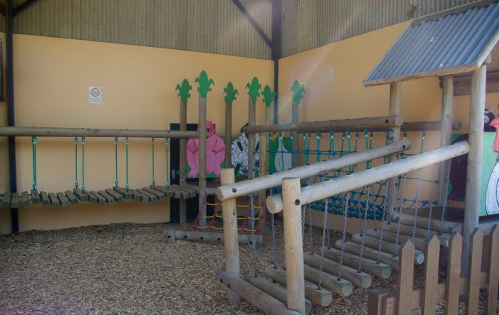 Covered play area at Abbotsbury Childrens Farm
