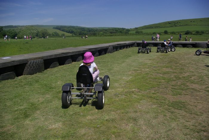 Go karts at Abbotsbury Swannery