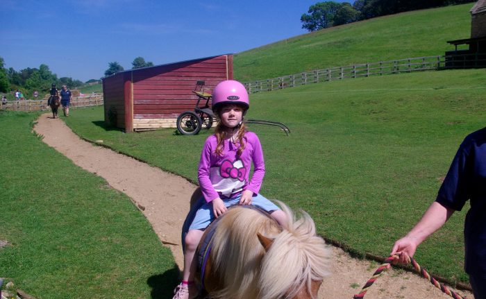 Pony rides at Abbotsbury Childrens Farm