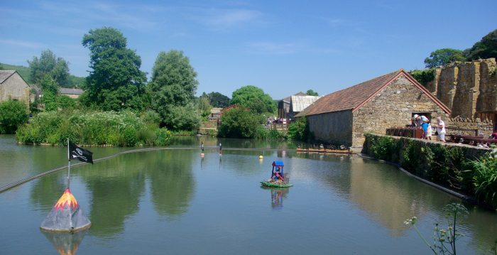 The boating lake at Abbotsbury Childrens Farm