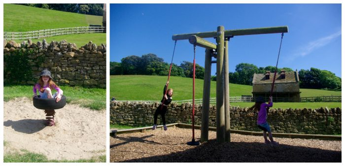 The play park at Abbotsbury Childrens Farm