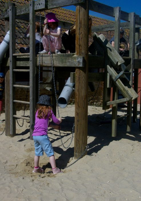 The sand play area at Abbotsbury Childrens Farm