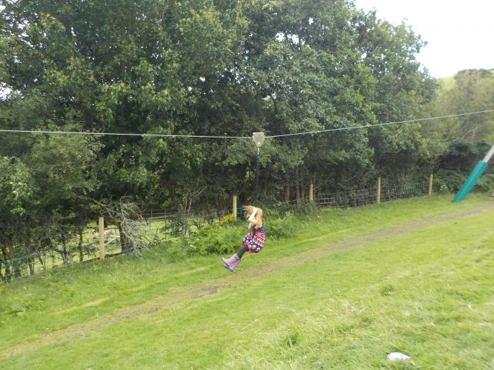 The zip wire at The Minature Pony Centre