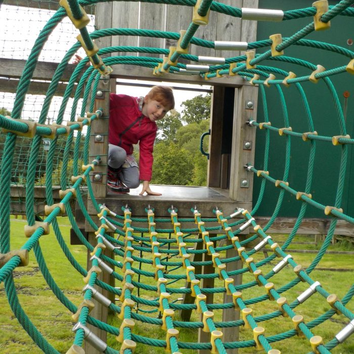 The play frame at The Miniature Pony Centre