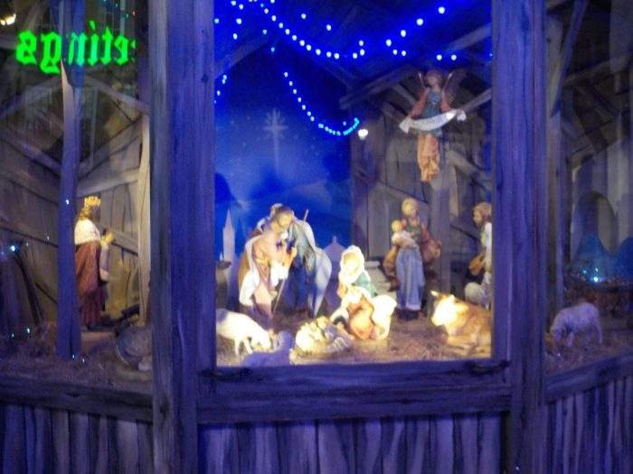 Nativity scene in Town Hall Square Leicester