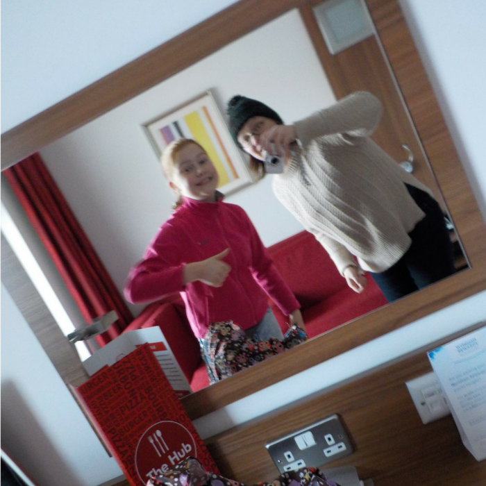 Selfie in the mirror at Ramada Encore Leicester