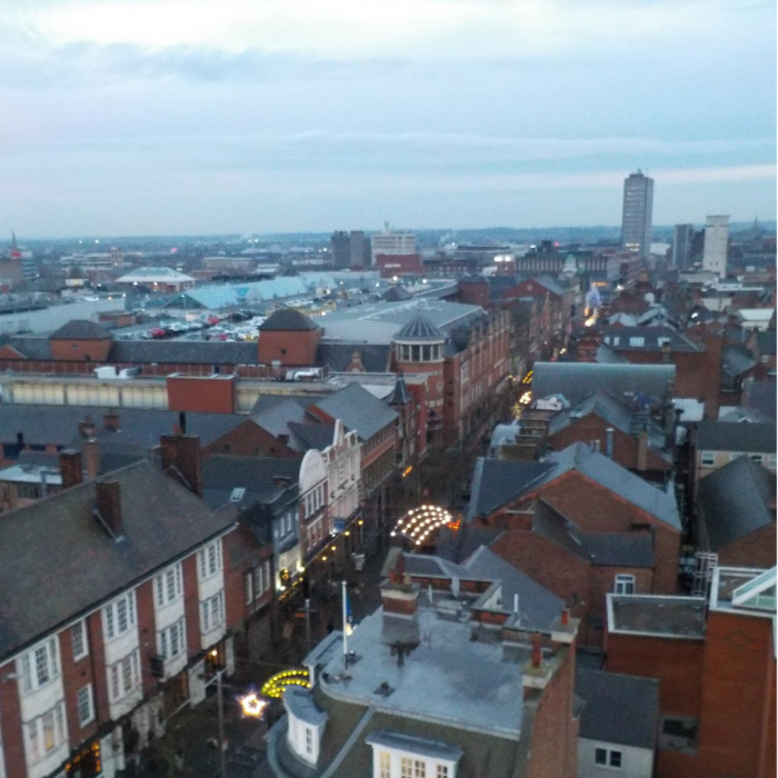 View from the Christmas Wheel of Light Leicester