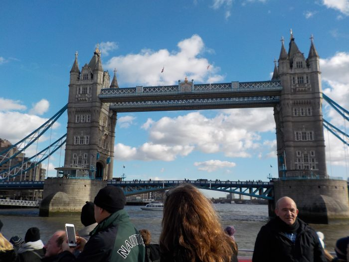 Tower Bridge from the City Cruises boat on the Thames London