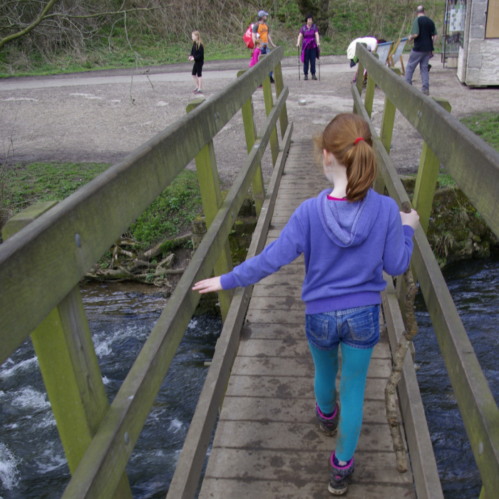 Footbridge at Dovedale Stepping Stones