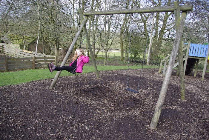 The swings at Sandybrook Country Park