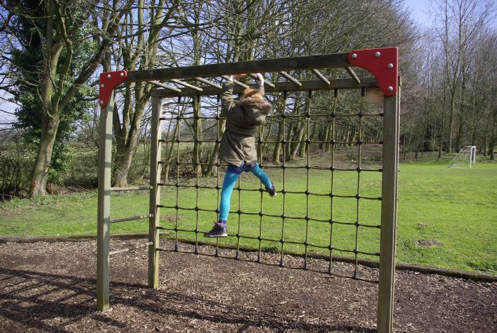 The monkey bars at Sandybrook Country Park