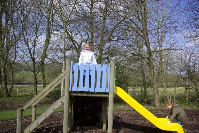 The slide at Sandybrook Country Park