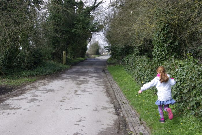The road to Thorpe from the Tissington Trail
