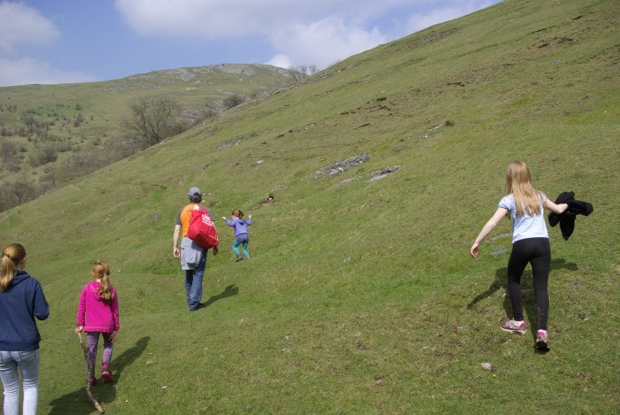 Dovedale on the way to the stepping stones