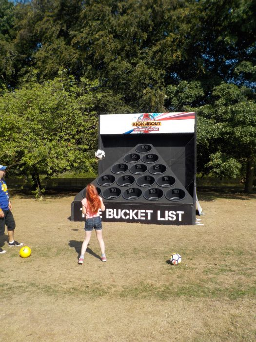 Trying out The Bucket List at CBBC Summer Social 2018