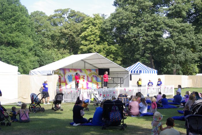 The CBeebies stage at CBBC Summer Social 2018