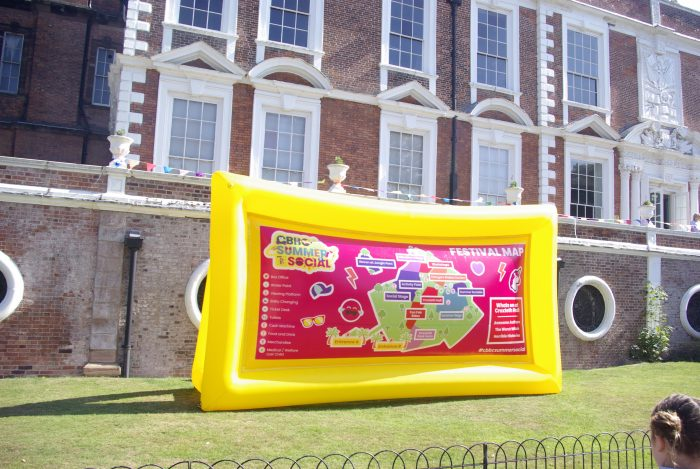 The inflatable maps at CBBC Summer Social 2018