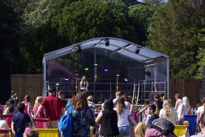 The summer social stage at CBBC Summer Social 2018