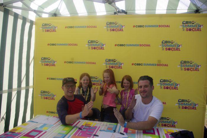 Meeting the Art Ninja crew at CBBC Summer Social 2018