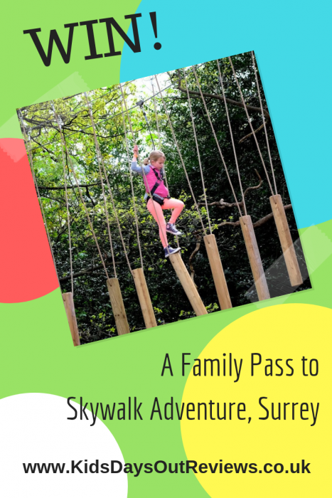 Win a family pass to Skywalk Adventure Surrey