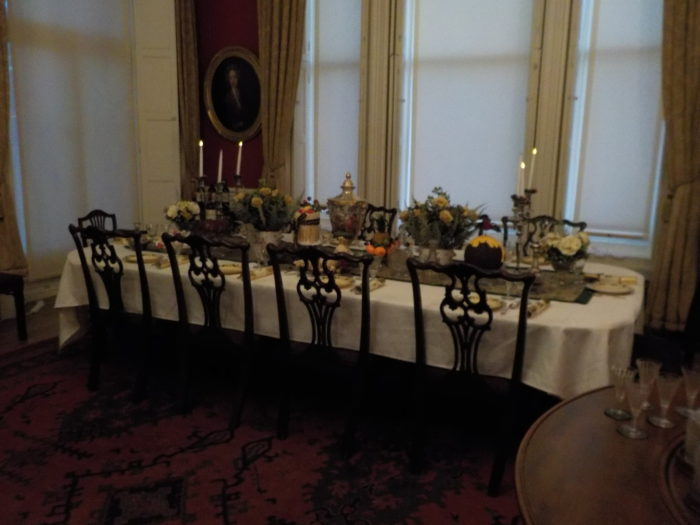 The dining room in Lotherton Hall