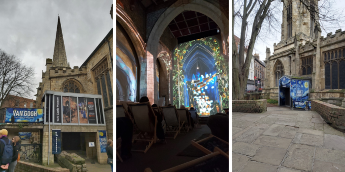 Van Gogh Immersive Experience is in St Mary's Church in York on Coppergate