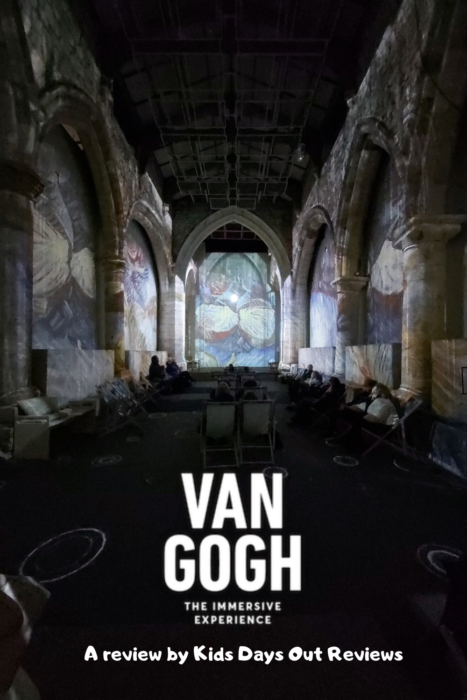 Van Gogh The Immersive Experience in York - a review by Kids Days Out Reviews - the pic shows the interior of St Mary's Church with the walls projected with Van Gogh's artwork